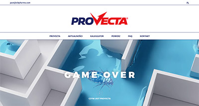 Screen strony Provecta